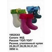 Сапоги резиновые для мальчиков, девочек 30 Фиолетовый фото
