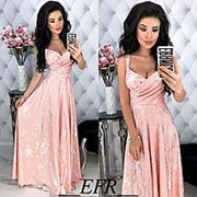 Платье женское макси на бретельках (3 цвета) - Розовый ЕФ/-401 фото