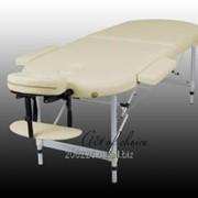 Массажный стол двухсекционный алюминиевый фото