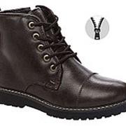 578610/01-01 т.коричневый иск.кожа детские (мальчики) ботинки Р-р 33 фото