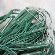 Сети рыболовные трехстенные из нитки, порежь плетенная, высота 3 метра, длинна 100, ячейка 70 фото