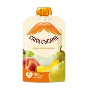 Фруктовый салатик пюре из яблок, персиков и груш САМИ С УСАМИ 100г фото