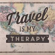 Декоративная интерьерная табличка travel is my therapy фото