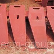 Футеровочные (боковые) плиты для щёковых дробилок фото