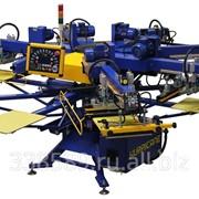 Автоматический трафаретный печатный станок карусельного типа Hurricane для печати по текстилю фото