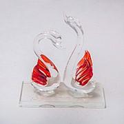 Статуэтка из стекла Лебеди 11см 10см фото