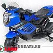 Детский электромотоцикл Moto Sport LQ168 синий