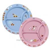 Тарелка с разделителями для порций AventPhilips голубой или розовый 65616 фото