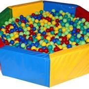 Сухой бассейн (Разноцвет) детские мягкие модули фото
