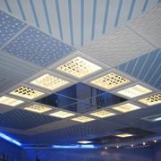 Установка растровых светильников фото