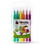 """Фломастеры 171266 Yalong YL 875142-12 в наборе ( 12 шт./ 12 цв. ) """"Попугай"""" на водной основе ( цена за 1 уп.) фото"""
