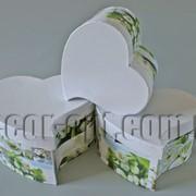Набор белых с розами коробок-сердец из 3 шт 570457 фото