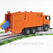 Мусоровоз грузовой Scania R-Series мусоросборщик - оранжевый 03560 фото
