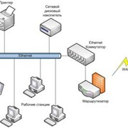 Подключение к ЛВС серверов и компьютерного оборудования фото
