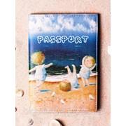 """Обложка на паспорт """"Детки на пляже"""" фото"""