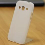 Чехол силиконовый матовый для Samsung Galaxy CORE prime белый фото