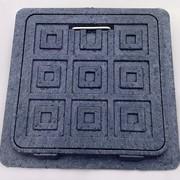 Люк-мини пластиковый квадратный(300х300) фото
