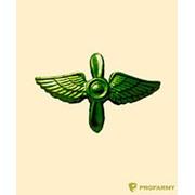 Эмблема петличная металлическая Авиация ВВС защитная ФМ-323 фото