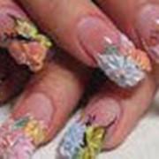 Объемный дизайн ногтей фото