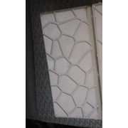Форма для плитки тротуарной Кирпич Камушки фото