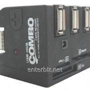 Концентратор Gembird UHB-FD1 черный USB, код 10810 фото
