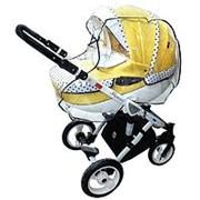 Дождевик для детской коляски универсальный из ПВХ-плёнки, на резинке фото
