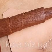 Натуральная кожа для обуви и кожгалантереи рыжая арт. СК 2013 фото