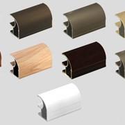 Профиль для шкафа купе цвет бронзовый Ширина двери от 600 до 700 мм фото
