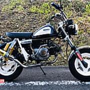 Мопед мокик Honda Monkey Custom рама Z50J Minibike тюнинг пробег 1 т.км тихоокеанский синий белый фото