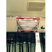 Листовки в салонах автобусов фото