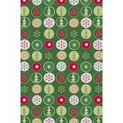 Бумага упаковочная KR Stewo Tabea grn dunkel, 0.7 x 2 м Новогодний фото