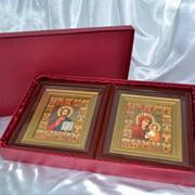 Коробка под иконы с тканью фото
