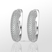 Серьги с бриллиантами E27790-3 фото
