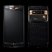 Мобильный телефон копия Vertu Signature Touch Pure Black Gold Alligator фото