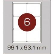 Этикетки самоклеящиеся 99,1х93,1 мм c закругленными углами фото