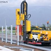Самоходная машина для монтажа ограждений ВТР 800 SMART (сваебойная установка) фото