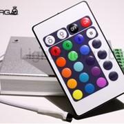 """ИК контроллер 24 кнопки """"LE-IR24-12A"""" (12-24В, 144Вт/288Вт, 12А) фото"""