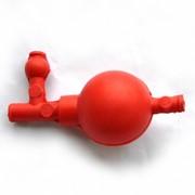 Груша резиновая, 3 клапана, 50 мл, красного цвета фото
