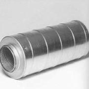 Шумоглушитель круглый тип 4 с центральной пластиной фото