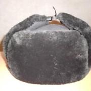 Шапка ушанка черного цвета фото