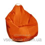 Синее кресло-мешок груша 100*75 см из ткани Оксфорд S-100*75 см, Оранжевый фото