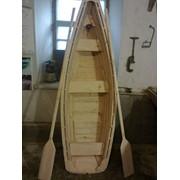 Лодка из дерева ( сосна, красная верба )декоративная фото