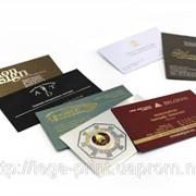 Продукция полиграфическая, визитки фото