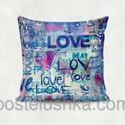 Подушка декоративная Love 35х35 cм 05 фото