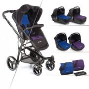 Универсальная коляска 3 в 1 Be Cool Bandit-3 Cool синий/фиолетовый 826/202 фото