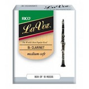 RCC10MS La Voz Трости для кларнета Bb, средне-мягкие (Medium-Soft), 10 шт, Rico фото
