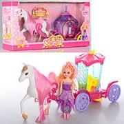 Карета 05013-05015 с куклой и лошадкой, 2 вида фото