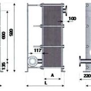 Теплообменник ТОР-15 трехходовой для ГВС с циркуляционной линией фото