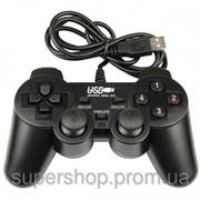 USB джойстик для ПК PC GamePad DualShock вибро 706 002884 фото