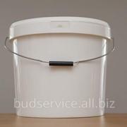 Ведро пластиковое 20 литров белое фото